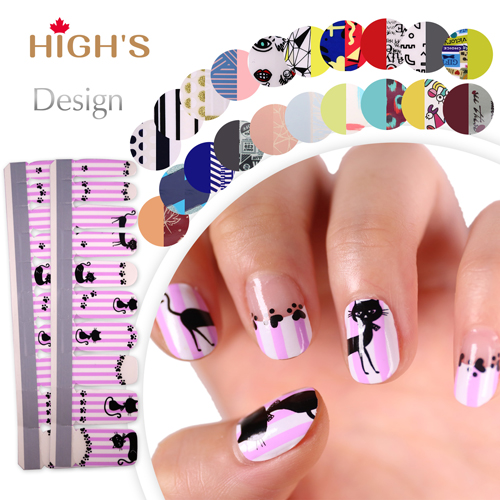 Highs Exclusive Design Series Nail Polish Strips Cat Highs Canada
