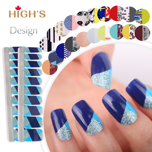 HIGH'S Exclusive Design Series Nail Polish Strips, Grand piano - HIGH'S Exclusive Design Series Nail Polish Strips, Grand Piano