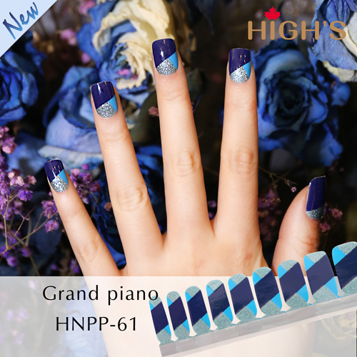 Highs Exclusive Design Series Nail Polish Strips Grand Piano
