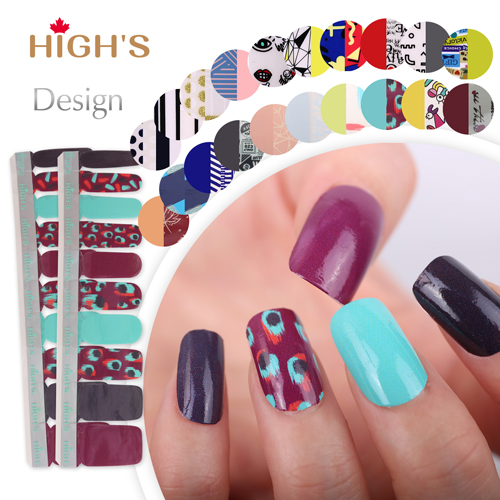 HIGH'S Exclusive Design Series Nail Polish Strips, Peacock dance - HIGH'S Exclusive Design Series Nail Polish Strips, Peacock Dance