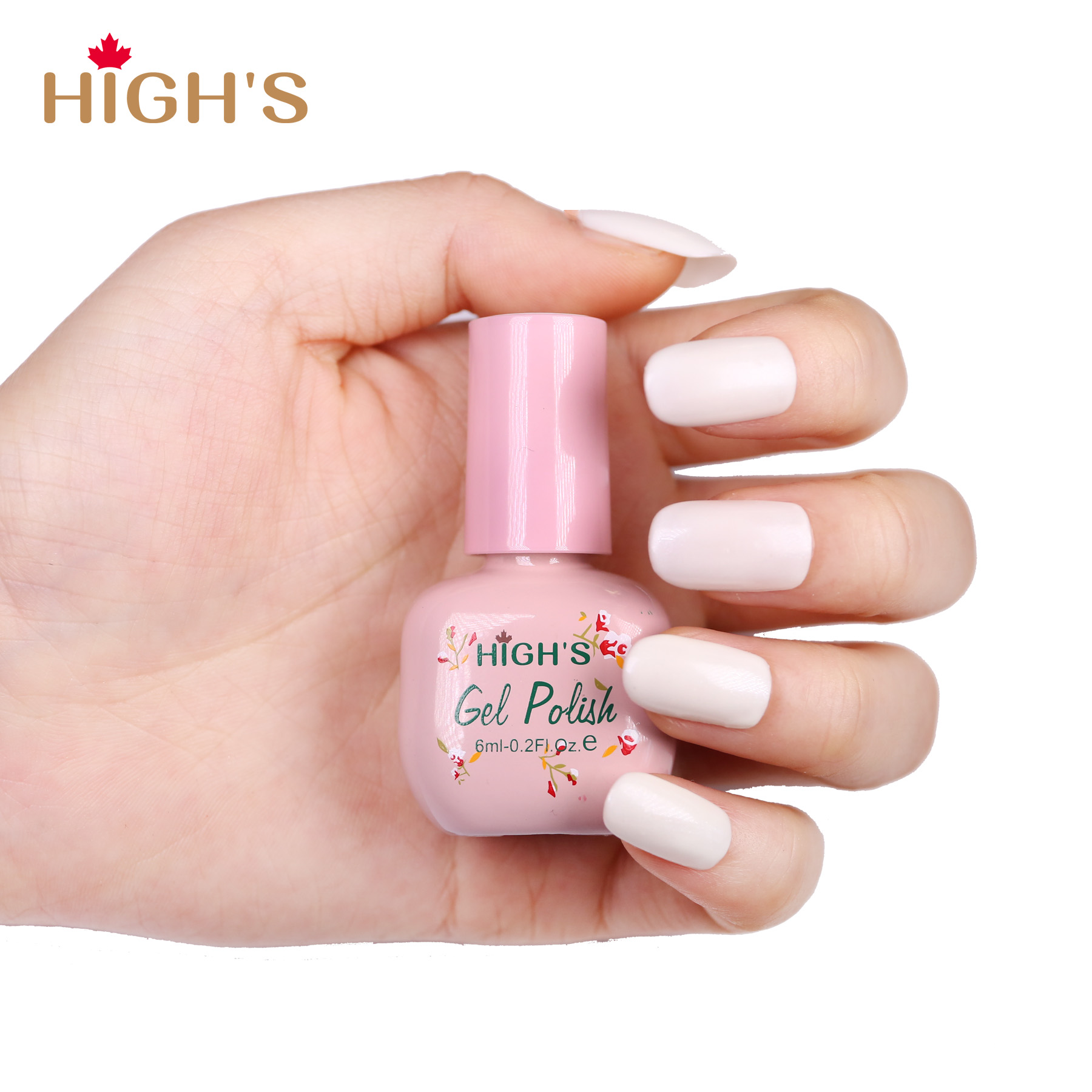 HIGH\'S Peel Off Gel Nail Polish, Pearl White – Highs Canada