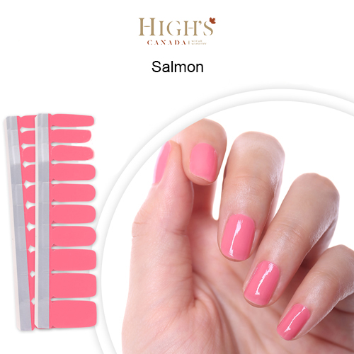 Nail Polish Strips Single Color Series Salmon Highs Canada